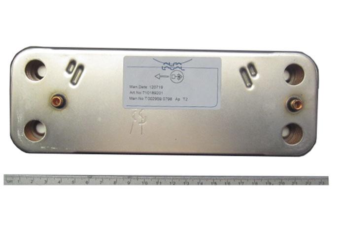 Вторичный пластинчатый теплообменник 14 pl baxi 5686680 теплообменник тпр 03-65